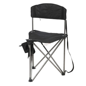 Extra Large Quick Folding Tripod Stool with Backrest