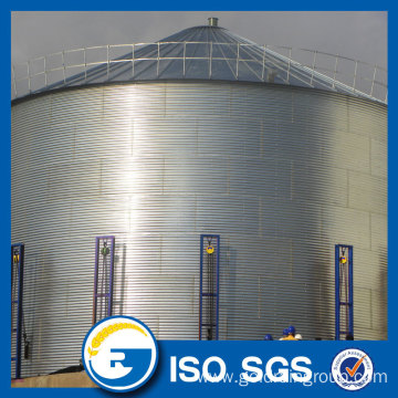 3000 tons Bolted Galvanized Flat Bottom Steel Silo