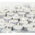 cheap white candles with long burning time