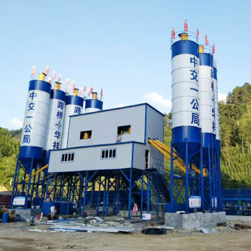 High quality 120m3h belt conveyor concrete batching plant