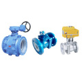 industrial HVAC stainless steel 220v av electric control flange ball valve