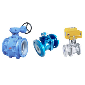 Electric GXPO Flange Lining Fluorine Ball Valve