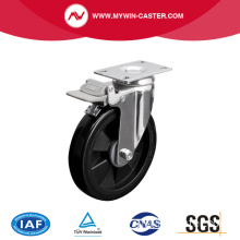 Medium 6 Inch 110Kg Plate Brake PU Caster