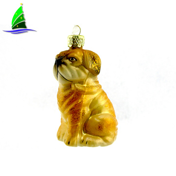 Glass Ornament Festival Christmas Puppy shaped Hanging