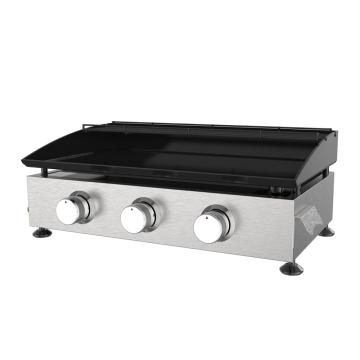 Three Burner cast iron Gas Plancha