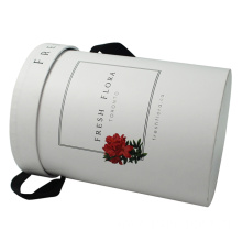 Custom Logo Tube  Box with Black Ribbon