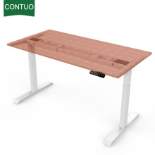Cheapest Factory for Two Legs Standing Desk Anti-Fatigue Office Height Adjustable Table With Table Legs export to Canada Factory