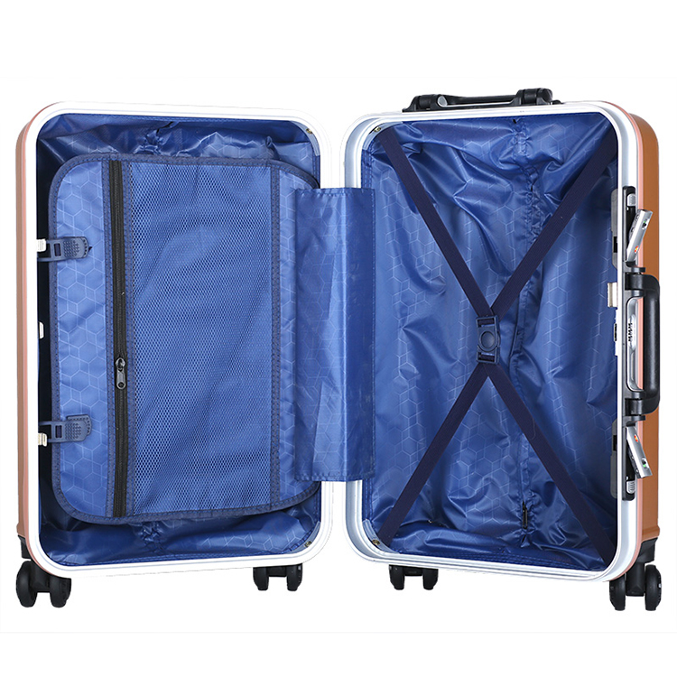 2Expandable cheap abs custom luggage in all sizes