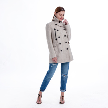 Fashionable pure color cashmere coat
