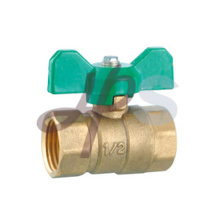 Brass ball valves with butterfly handle