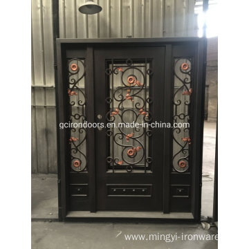 Classic Design Steel Doors with Sidelight