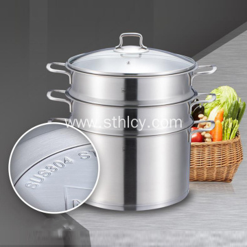 304 Stainless Steel Steamer Pot 3 layers
