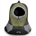 Olive Large PVC and Mesh Pet Backpack