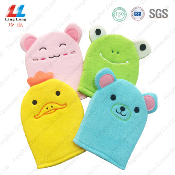 Delicate swanky bath kids animal gloves