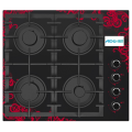Gas Stove Black With A Pattern