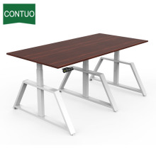 OEM Customized for Computer Standing Desk Adjustable Height Electric Small Conference Meeting Table export to India Factory