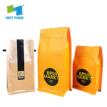 OEM manufacturer custom for Zipper Coffee Biodegradable Packaging Bag Laminated Material valve Side Gusset coffeebag tea packaging supply to Russian Federation Manufacturer