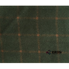 China for Wool Bylon Blend Fabric Olive Check 80% Wool 20% Nylon Fabric supply to Oman Manufacturers