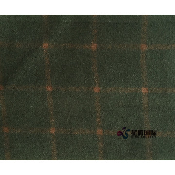 Olive Check 80% Wool 20% Nylon Fabric