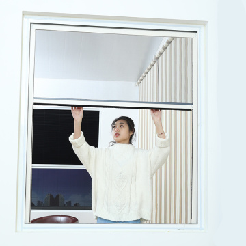Retractable window with aluminum frame 01