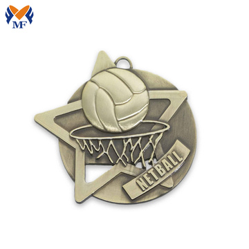 Awards medal in sports basketball game