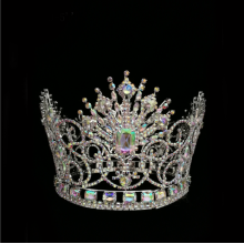 Full Round Tiara Queen Beauty Pageant Crown