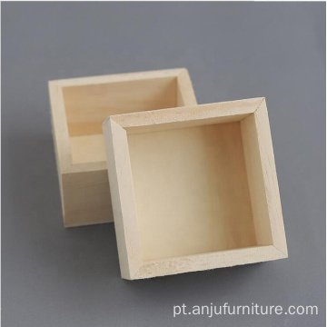 Watch Pine Wood Ring Box
