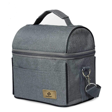 Atacado OEM Poliéster Cooler Tote Lunch Bag