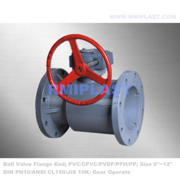 CPVC Ball Valve Flange End DIN PN10