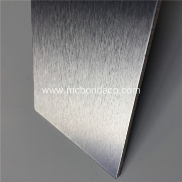 MC Bond Silver Brushed Aluminum Plastic Composite Panel