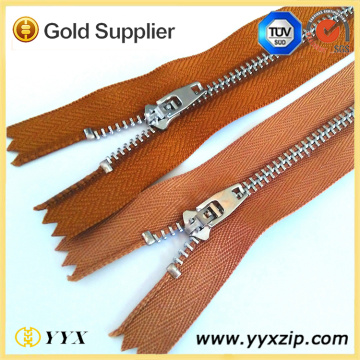 Custom Polished Nickel Teeth Metal Zipper Roll