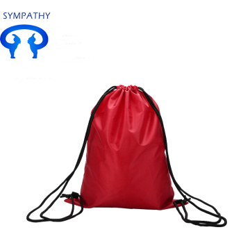 Custom drawstring double shoulder bag pocket