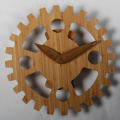 Bamboo Gear Wall Clocks