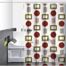 7 Foot Waterproof Bathroom printed Shower Curtain