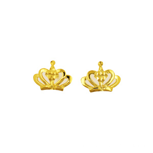 Princess Crown Earring K Gold Yellow Gold
