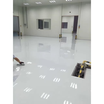 Light grey epoxy waterborne floor paint