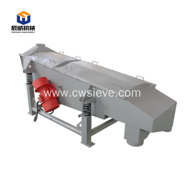 A layer of linear vibrating screen
