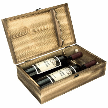 OEM/ODM for Wooden Wine Box Luxury double Bottle Packaging wood wine box unfinished supply to Colombia Wholesale