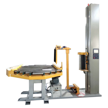 Pallet stretch wrapping machine with video
