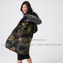 Winter Reversible Mink Overcoat For Lady