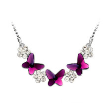 High Quality for Pretty Lady Necklaces Women Pendant Necklace With Butterfly And  Flower export to Libya Factory
