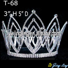 Full Round Rhinestone Pageant Crowns