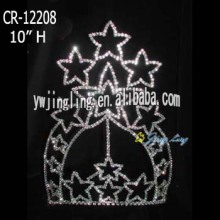 Large tiara star shape pageant crown