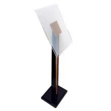 acrylic brochure holder floor display stand