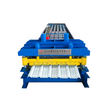 glazed roofing metal sheet roll forming machine
