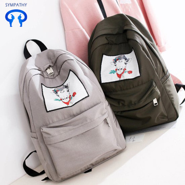 New style white horse college student's school bag