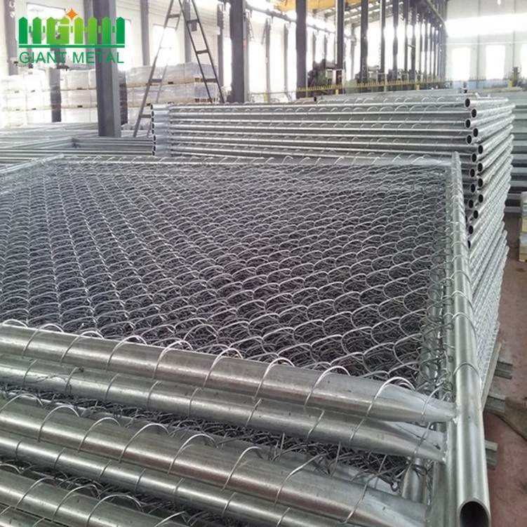 U.S Galvanized Temporary Used Chain Link Fence
