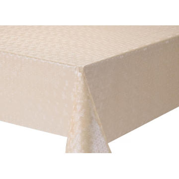 Solid Embossed Fabric Tablecloth