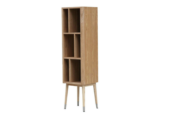 Elory modern vertical cabinet by ash wood