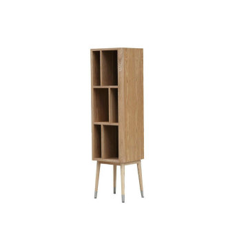 Europe style for Wooden Bookcase Elory modern vertical cabinet by ash wood supply to Netherlands Supplier